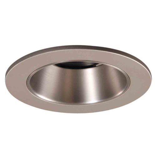 Reflector Satin - Halo Recessed 3007SN 3-Inch 15-DegreeLensed Shower Light Satin Nickel Trim with Satin Nickel Reflector by Halo Recessed