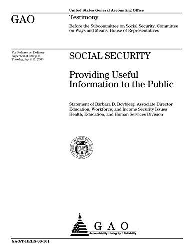 Social Security  Providing Useful Information To The Public
