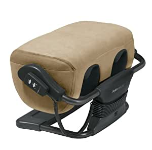 Human Touch Ottoman 2.0 Robotic Calf and Foot Massager, Bone Microsuede