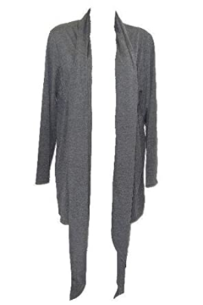 New Womens Grey Waterfall Cardigan Size 18/20: Amazon.co.uk: Clothing