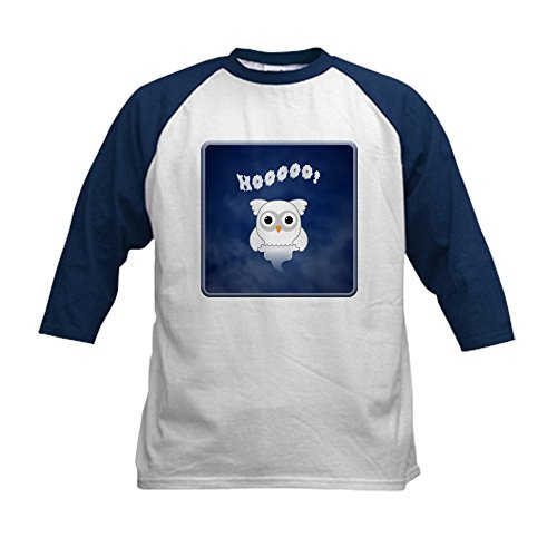 Mummy Casper (Truly Teague Kids Baseball Jersey Spooky Little Ghost Owl In The Mist - Navy/White, Large (14-16))