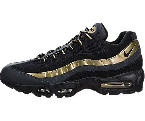 1081773576 Galleon - Nike Men's Air Max 95 PRM Black/Gold 538416-007 (Size: 8.5)