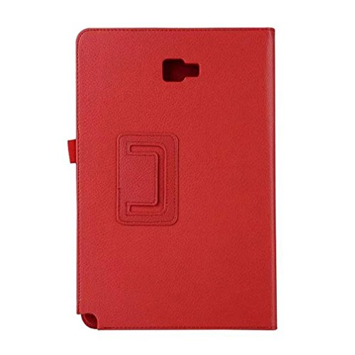 Price comparison product image GBSELL PU Leather Cover Case+Tocuh Pen For Samsung Galaxy Tab A 10.1 (2016) SM-P580 /P585 10.1 inch Tablet (Red)