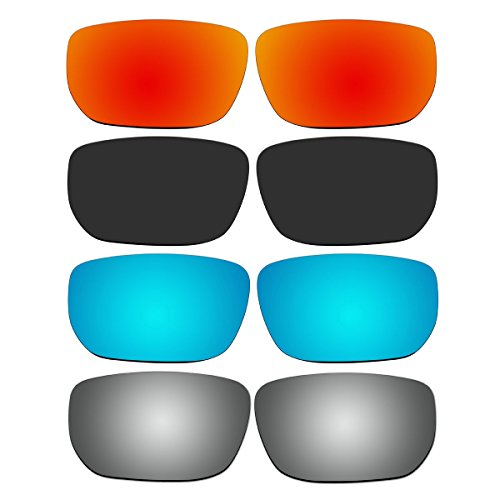 4 Pair Replacement Polarized Lenses for Oakley Style Switch Sunglasses Pack - Sunglasses Replacement Lens Switch