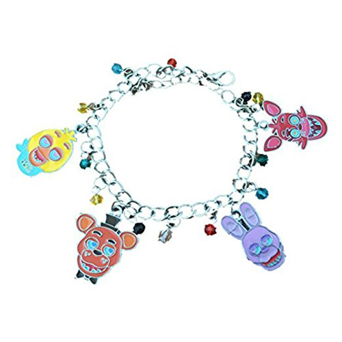 Athena Brand Five Nights at Freddy's Charm Bracelet Quality Cosplay Jewelry Gaming Anime Series with Gift Box