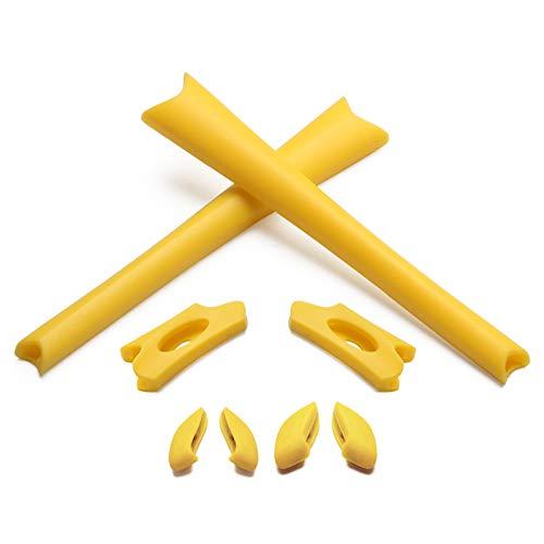 Replacement Earsocks & Nosepiece for Oakley Flak Jacket/Flak Jacket XLJ Sunglass (Yellow, - Nosepiece Yellow