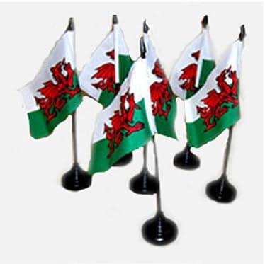 Diseño de Dragón Galés de Gales bandera de 10,16 cm x 15,24 cm con Base de sobremesa: Amazon.es: Hogar