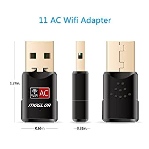 Moglor Clé Wifi Dongle Adaptateur USB sans fil Mini Double