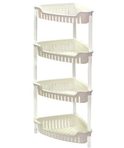 HQ 4 Tier Corner Plastic Bathroom Rack