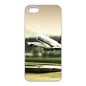 Vinceryshop Plane IPhone 5,5S Case Airplane Landing Unique for Guys, Iphone 5 Case, {White}
