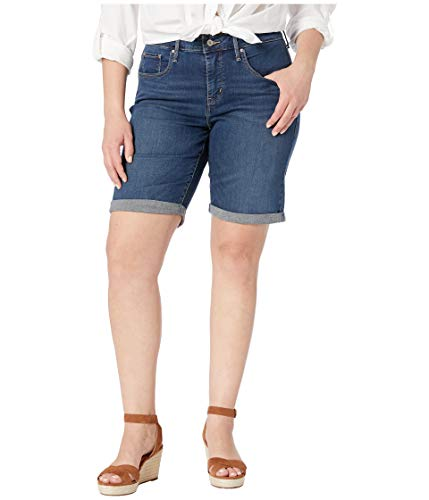 Levi's Women's Plus-Size Shaping Bermuda Shorts, pier, 38 (US 18) (Plus Size Women Levis)