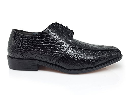 Romeo Enzo Black Shoes Loafers Fashion Dress Oxfords On Slip Gator Mens Print Crocodile Alligator Trqdr