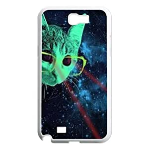 Galaxy Hipster Cat DIY Cover Case for Samsung Galaxy Note 2 N7100,personalized phone case ygtg550625 by lolosakes