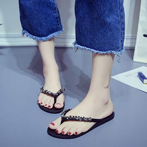 De Pour Plage Tongs Noires Simples taille Pantoufles Femmes Pantoufles D'été 36 Huyp Mode Chaussures qIfFwxCHH