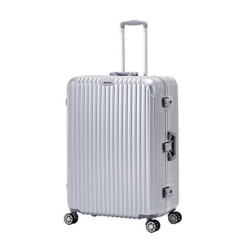 ORKAN AL frame design hard shell luggage Carry On Suitcase 1pc/3 pcs 4 wheels/light weight/TSA Lock Economic Silver