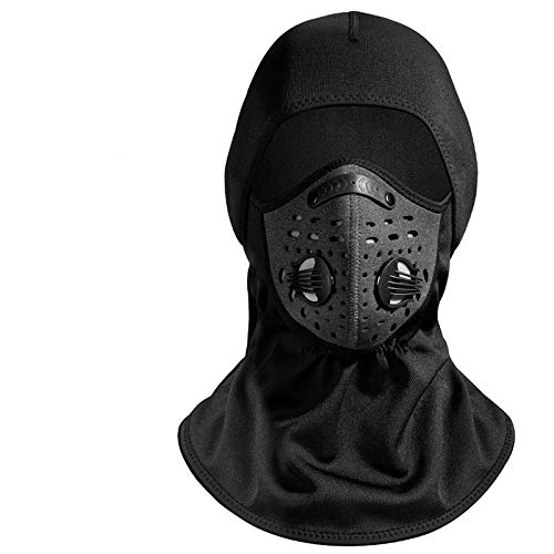 - Professional Anti-Fog Design Plus Velvet Windproof Hood Riding Cold smog mask