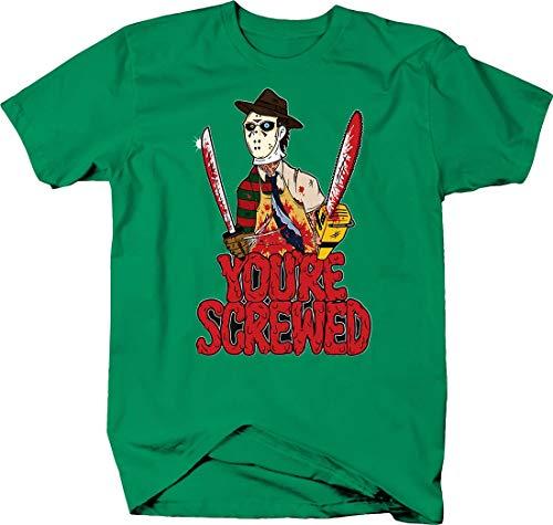 You're Screwed Freddy Krueger Michael Meyers Jason Halloween Tshirt Medium Kelly -