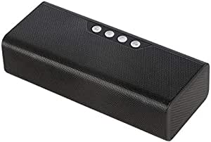 ZYZRYP TOPROAD Wireless Bluetooth Speaker Portable Stereo Speakers Altavoz caixa de som Soundbar with MIC Support TF Card FM Radio USB (Color : Black Speaker)