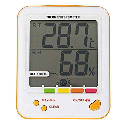 S-WS18 Hygrometer Thermometer Indoor Outdoor Humidity Monitor Digital Temperature Clock Thermo Hygrometer Meter with Min/Max Value Alarm - Nature Element Measurements - King Thermo Thermometer