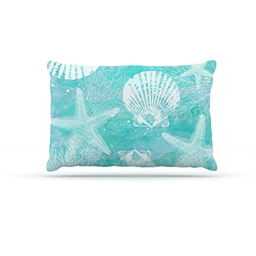 Kess InHouse Sylvia Cook Seaside  Fleece Dog Bed, 50 by 60 , bluee Teal