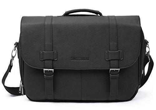 Sweetbriar Classic Laptop Messenger Bag - Briefcase Designed - Vegan Laptop Messenger Bag