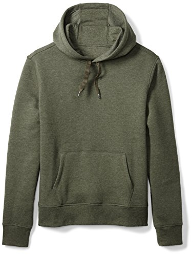 Amazon Essentials Men's Hooded Fleece Sweatshirt, Olive Heather, Medium