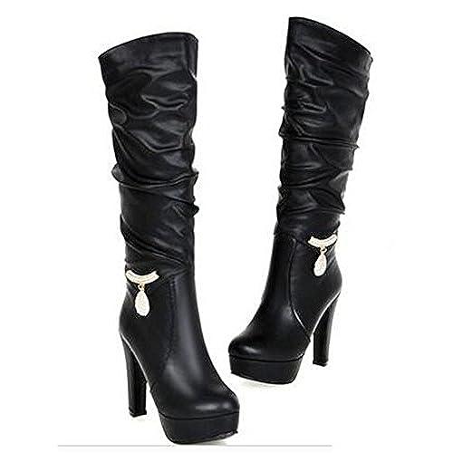 922e1adac6c hot sale Women's Trendy PU Leather Rhinestone Winter Snow Heavy ...