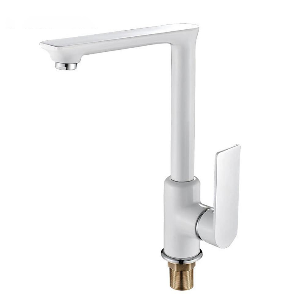C Longless Hot and cold mix water kitchen faucet tap faucet 360 ° redating faucet