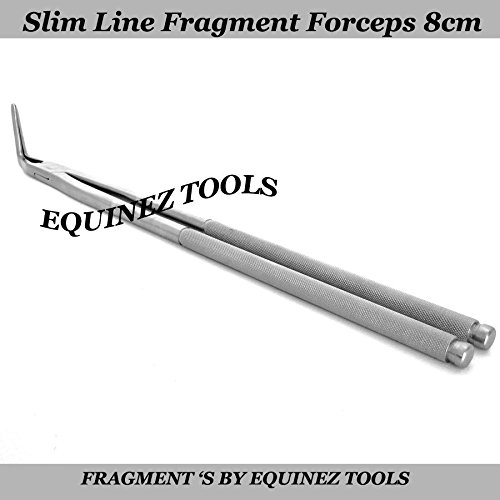 19  Equine Slim Line Fragment Forceps 8cm Pouch, Stainless Steel Dental Equine
