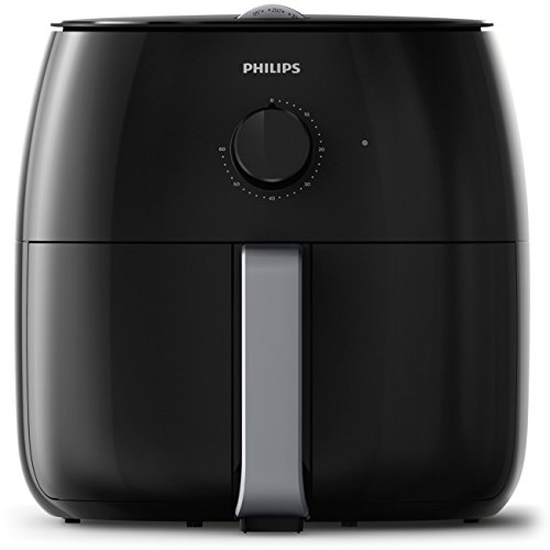 Philips Twin TurboStar Technology XXL Airfryer with Fat Reducer, Analog Interface, 3lb/4qt, Black -  HD9630/98