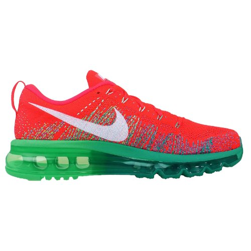 Nike Womens Wmns Flyknit Max, Bright Crimson / White-turbo Green-ltl Bright Crimson / White-turbo Green-ltl