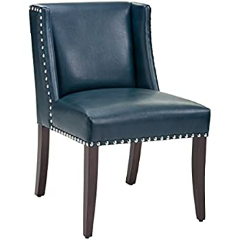 Nice Sunpan Modern Marlin Leather Dining Chair, Set Of 2, Blue