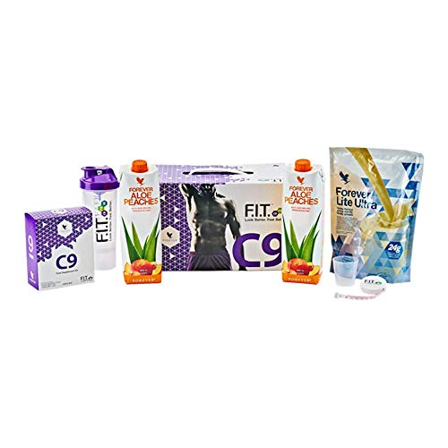 Forever Living Clean 9 Pack – New Flavours – Berry – Peach – 9 Day Detox Plan Diet (Vanilla Shake + Peaches Aloe Drink)