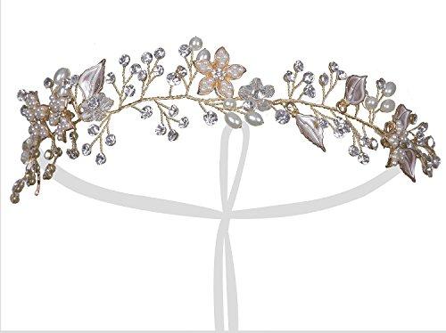 Vijiv Gold 1920s Headpiece Great Gatsby Flapper Headband accessories Wedding Party Jewelry
