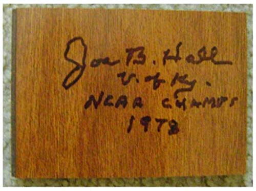 Joe B Hall autographed floor board inscribed 1978 NCAA Champs generic size 3x5 inches (University of Kentucky Wildcats Basketball Coach) Autograph Warehouse