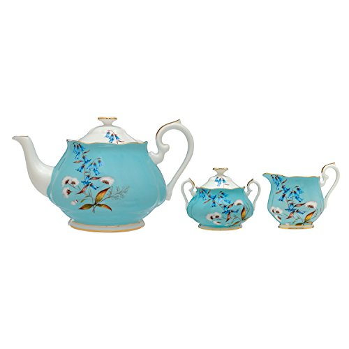 100 Years of Royal Albert 3-Piece Tea Set, 1950 Festival by Royal Albert
