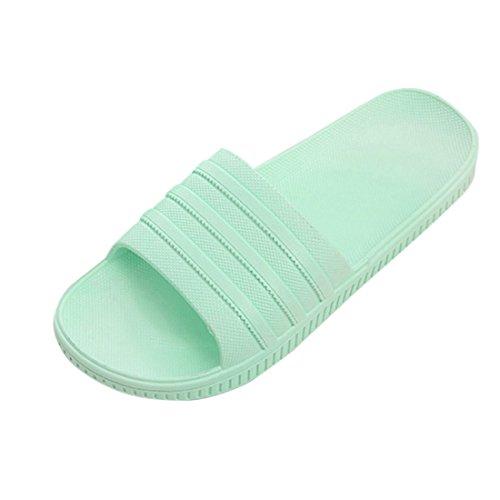 Jiyaru Morbido E Confortevole Antiscivolo Bagno Doccia Pantofole Da Spiaggia Per Uso Domestico Sandalo 1 Verde