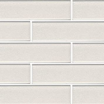 3x12 Pearl White Crystal Glass Subway Tile For Kitchen Bathroom