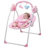 WBPINE Baby Swing Chair, Automatic Baby Rocker Swing Cradle for Baby Boys and Girls with Music