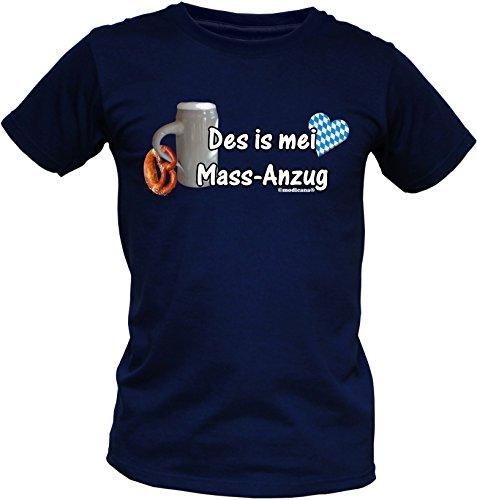 Wiesn T-Shirt - Des is mei MASS-Anzug - lustiges Bayerisches Sprüche Shirt ideal für's Oktoberfest statt Lederhose und Dirndl