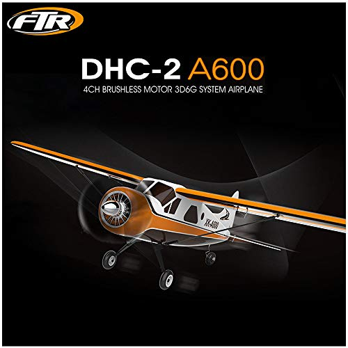 Remote Control Plane | 3D6G System Radio Control Airplane Durable EPP (4-CH 2.4GHz Transmitter Included)| 6-Axis Gyro RC Aircraf Easy to Fly for Beginner (1PC Brow RC Airplane)