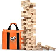 Jenga Giant JS6 (Stacks to Over 4 Feet) Precision-Crafted, Premium Hardwood Game with Heavy-Duty Carry Bag (Au