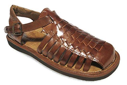 Sandales Faites Main En Cuir Authentique Pour Hommes (450) Tongs Flip Flop Sur Huaraches Marron