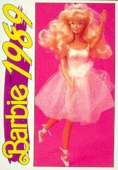 """Barbie Collectible Fashion Trading Card  /"""" My First Barbie Doll /""""  1989"""