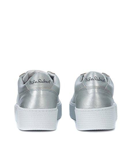 Madreperla Nira Alluminio Sneaker Cosmopolitan Stella con Grigio Pelle Rubens in TOqTRB