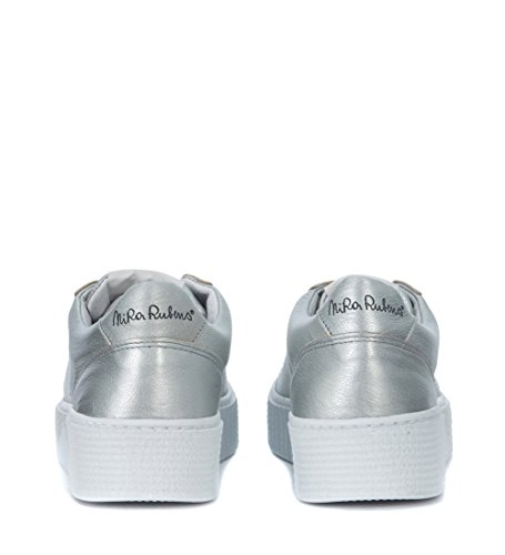 Cosmopolitan Sneaker Nira Piel Gris Estrella En Aluminio Rubens Con Madreperla EqZCq