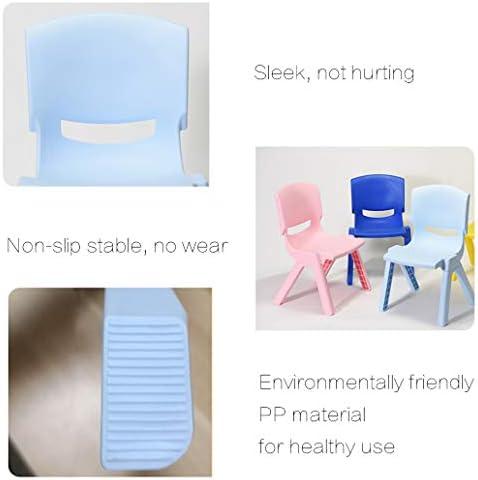 Rventric Chaise d'enfant, Chaise Multifonctionnelle en Plastique Imperméable À l'eau Multifonctionnelle Empilable en Plastique De Jeu/Pièce / Extérieur/École (1 Pcse),Pink