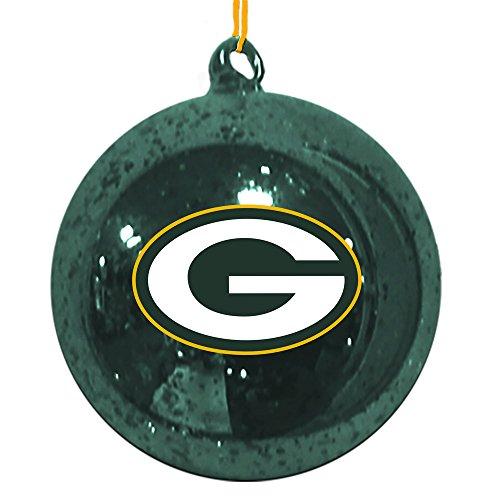 Team Sports America Green Bay Packers Mercury Glass Ball Ornament