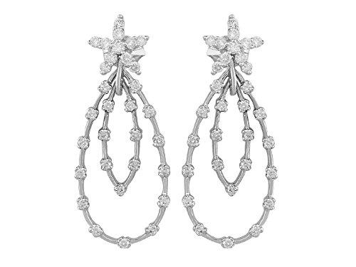 Birgie Diamants et Bijoux -Boucles d'Oreilles Diamants-Femme- or Blanc 204E0023