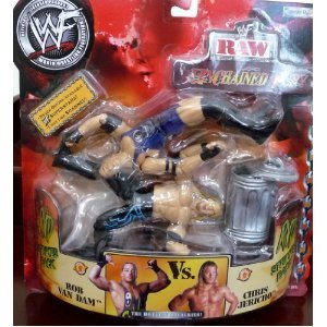 ROB VAN DAM RVD vs. CHRIS JERICHO WWE WWF Raw Unchained Fury figure by WWE